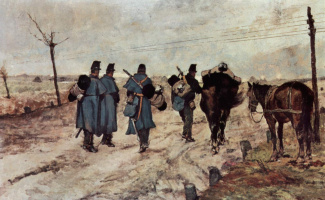 Giovanni Fattori. Marching soldiers