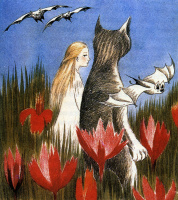 """Illustration to the story by L. Carroll """"Alice in Wonderland"""""""