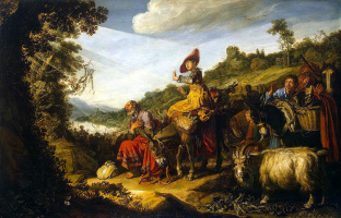 Питер Питерс Ластман. Авраам на пути в Ханаан