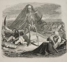 Жан Иньяс Изидор (Жерар) Гранвиль. Смерть и умирающий