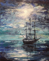 Алина Галкина. In the sea at night