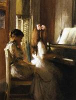Джозеф Декамп. Мать с дочерью
