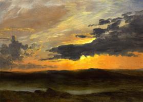 Альберт Бирштадт. Вечерний пейзаж