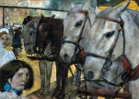 Георг Хендрик Брейтнер. Лошади на плотине