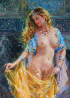 Константин Разумов. Девушка с золотистой вуалью.