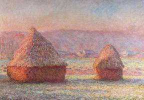 Claude Monet. Haystacks (frost, dawn)