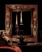 Жорж де Латур. Кающаяся Мария Магдалина. Фрагмент. Свеча в зеркале