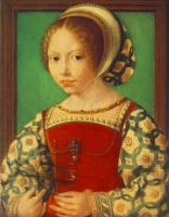 Ян Госсарт. Молодая девушка с астрономическим инструментом