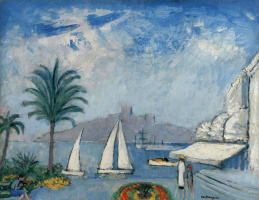 Kees Van Dongen. Sailboats in Cannes