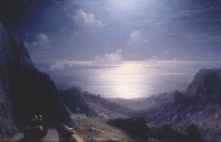 Ivan Aivazovsky. The view from the Baidar Gate, the Black sea