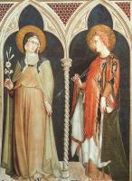 Симоне Мартини. Святая Клара и святая Елизавета Венгерская