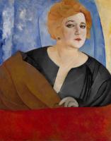 Борис Дмитриевич Григорьев. «Портрет Анны Сергеевны Сергеевой» 1921
