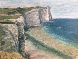 Albert Safiullin. Cliffs of Etretat at low tide
