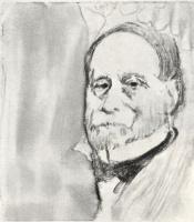 Edgar Degas. A man with a short beard