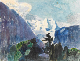 Cuno Amiè. Mountain landscape