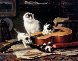 Генриетта Роннер-Книп. Практика на гитаре