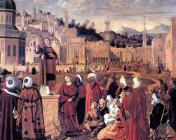 Витторе Карпаччо. Святой Стефан, проповедующий в Иерусалиме