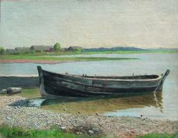Ефим Ефимович Волков. Лодка на реке