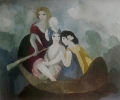 Мари Лорансен. В лодке