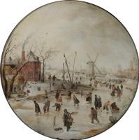 Хендрик Аверкамп. Катание на замерзшей реке