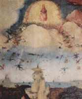 Иероним Босх. Воз сена. Левая створка триптиха. Изгнание из рая. Фрагмент