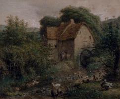 Jean-François Millet. Old mill