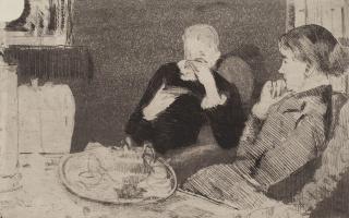 Мэри Кассат. Лидия с матерью за чаем
