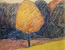Франсис Пикабиа. Желтое дерево