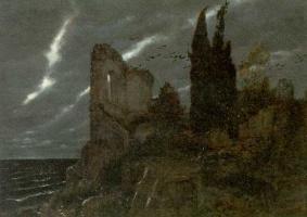 Arnold Böcklin. The darkness