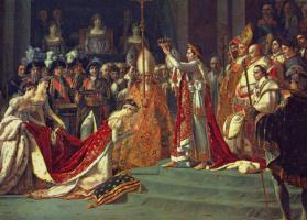 Jacques-Louis David. The coronation of the Emperor Napoleon I and coronation of Empress Josephine in Notre-Dame de Paris, 2 December 1804. Fragment