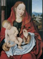 Йос ван Клеве. Мадонна с младенцем.