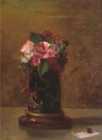 Джон Лафарг. Цветы в японском вазе
