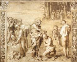 Андреа дель Сарто. Крещение народа