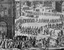 Николаус ван дер Хорст. Похоронная процессия Иоганна Батиста фон Тассис