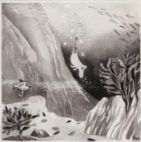 """Туве Янссон. Рисунок для книги """"Муми-тролль и комета"""""""