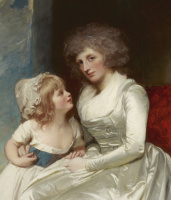 George Romney. Henrietta, the Countess of Warwick with the children. Fragment