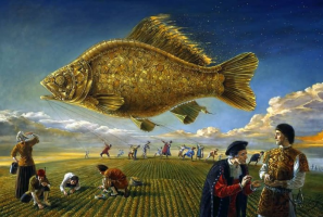Mikhail Khokhlochev. Goldfish sunrise