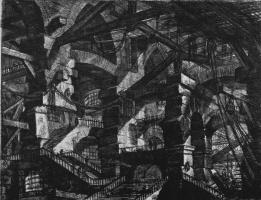 Джованни Баттиста Пиранези. Серия Тюрьмы, лист XIV, второе состояние