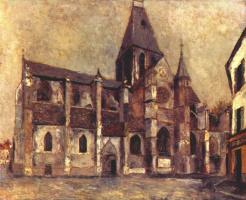 Морис Утрилло. Церковь в Вилье-Ле-Бель