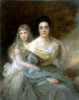 Фюлоп Ласло. Портрет дамы с дочерью