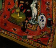 Анри Матисс. Статуэтка и вазы на восточном ковре