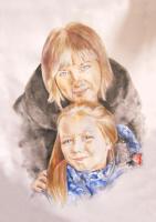 Иван Александрович Долгоруков. Парный портрет Жировых, мамы с дочерью