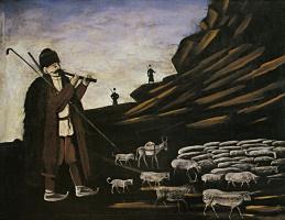 Нико Пиросмани (Пиросманашвили). Пастух с отарой