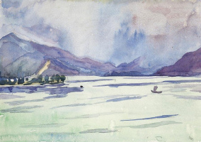 Джованни Джакометти. Туман над озером Комо