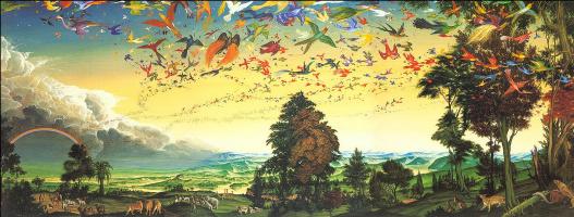 Уль Де Рико. Птицы в небе