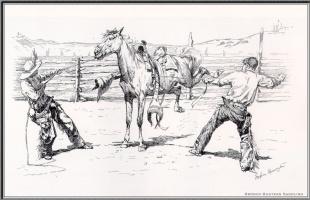 Фредерик Ремингтон. Объезчик полудикой лошади