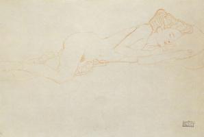 Густав Климт. Лежащая обнаженная