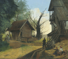 Rural landscape with peasants. 1845