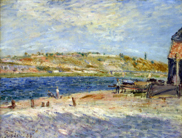 Alfred Sisley. The river in Saint-Mammes