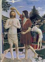 Пьеро делла Франческа. Крещение (фрагмент)